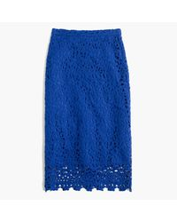 J.Crew   Blue Collection Lace Skirt   Lyst