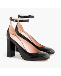 J.Crew Black Harlow Pumps In Leather