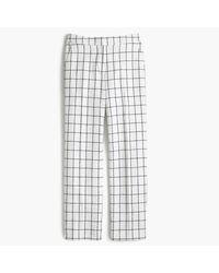 J.Crew | Multicolor Petite Patio Pant In Windowpane Tweed | Lyst