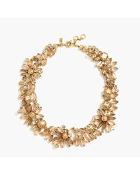J.Crew | Metallic Floral Necklace | Lyst