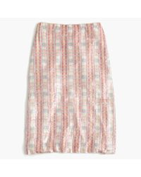 J.Crew | Pink Collection Patterned Sequin Skirt | Lyst