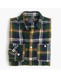 J.Crew | Blue Midweight Flannel Shirt In Multicolor Plaid for Men | Lyst