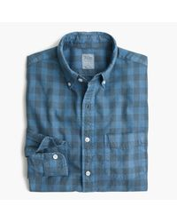 J.Crew | Blue Slim Oxford Shirt In Buffalo Check for Men | Lyst
