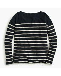 J.Crew   Blue Deck-striped T-shirt   Lyst