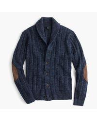 J.Crew | Blue Cotton Mariner Shawl-collar Cardigan Sweater for Men | Lyst