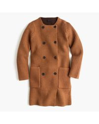 J.Crew | Brown Collection Bonded-knit Sweater Coat | Lyst