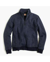 J.Crew | Blue Summit Fleece Half-zip Sweatshirt In Ultramarine for Men | Lyst
