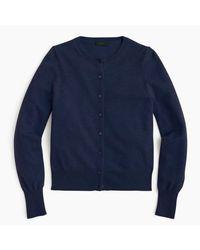 J.Crew | Blue Italian Cashmere Cardigan Sweater | Lyst