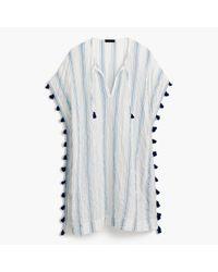 J.Crew - Blue Striped Tassel Tunic - Lyst