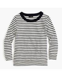 J.Crew | Blue Tippi Sweater In Nautical Stripe | Lyst