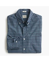 J.Crew | Blue Slim Secret Wash Shirt In Devon Check for Men | Lyst