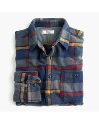 J.Crew | Blue Wallace & Barnes Heavyweight Flannel Shirt In Multicolor Plaid for Men | Lyst