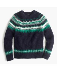 J.Crew | Multicolor Brushed Wool Fair Isle Sweater for Men | Lyst