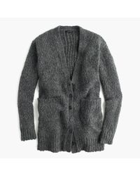 J.Crew | Gray Collection Rib-trim Cardigan Sweater In Merino Wool Blend | Lyst