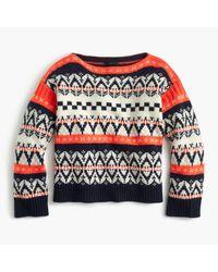 J.Crew | Blue Festive Fair Isle Sweater | Lyst