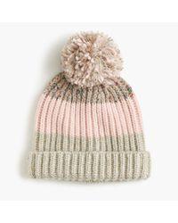 J.Crew   Multicolor Italian Wool-blend Striped Hat   Lyst