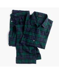 J.Crew | Blue Black Watch Flannel Pajama Set | Lyst