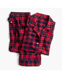 J.Crew | Red Mixed Plaid Flannel Pajama Set | Lyst