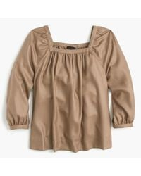 J.Crew | Brown Collection Penny Top In Italian Cashmere | Lyst