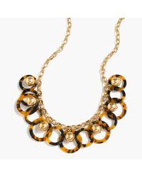 J.Crew - Metallic Beaded Hoop Necklace - Lyst