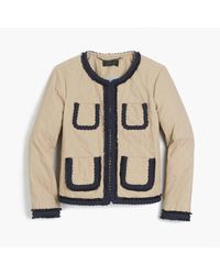 J.Crew | Natural Quilted Safari Jacket | Lyst