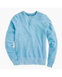 J.Crew | Blue Garment-dyed Crewneck Sweatshirt for Men | Lyst