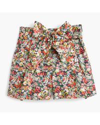 J.Crew | Multicolor Tie-waist Short In Liberty Thorpe Floral | Lyst