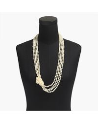 J.Crew - Multicolor Long Pearl Knot Necklace - Lyst