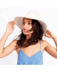 J.Crew - White Brimmed Hat With Cotton Trim - Lyst