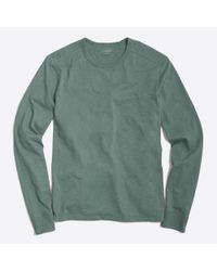 J.Crew - Green Long-sleeve Textured Cotton T-shirt for Men - Lyst