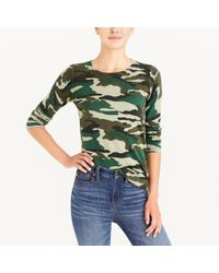 J.Crew - Green Camouflage Teddie Sweater - Lyst