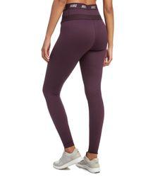 Nike - Purple Zonal Strength Tights - Lyst