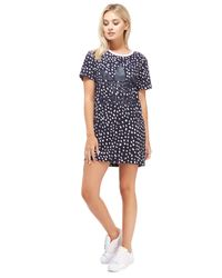 Adidas Originals - Blue Print T-shirt Dress - Lyst
