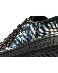 Adidas Originals - Black Stan Smith Metallic - Lyst