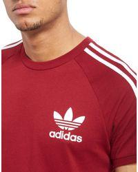 Adidas Originals - Red California T-shirt for Men - Lyst