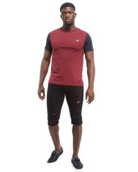 Fred Perry - Red Contrast T-shirt for Men - Lyst