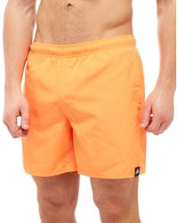 Adidas - Orange Solid Swim Shorts for Men - Lyst
