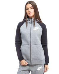 Nike - Gray Air Full Zip Hoody - Lyst