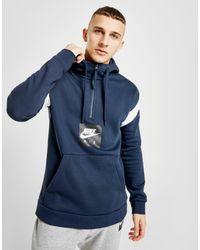 e127554cfd Lyst - Nike Air 1 2 Zip Fleece Hoodie in Blue for Men