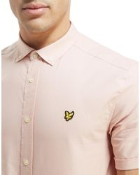 Lyle & Scott - Pink Short Sleeve Oxford Shirt for Men - Lyst