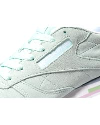 Reebok - Blue Classic Leather Pastel - Lyst
