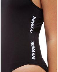 Ivy Park - Black Logo Tape Bodysuit - Lyst