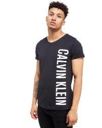 Calvin Klein | Black Side Logo T-shirt for Men | Lyst