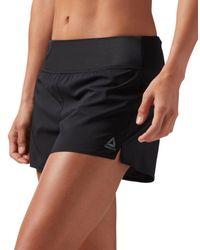 Reebok - Black Wor Knit Woven Shorts - Lyst