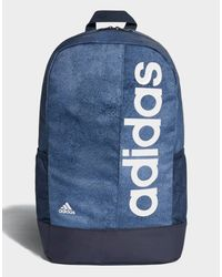 42fec56446ba adidas Linear Performance Backpack in Blue for Men - Lyst