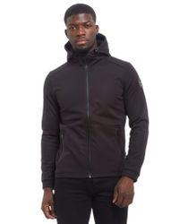 Napapijri - Black Addison Soft Shell Hooded Jacket for Men - Lyst