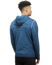 Reebok - Blue The Noble Fight Washed Zip Hoody for Men - Lyst