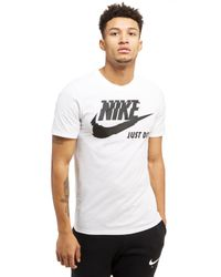Nike | White Futura Just Do It T-shirt for Men | Lyst