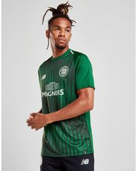 New Balance Celtic Fc 2018 19 Pre Match Shirt in Green for Men - Lyst 9836fdbed