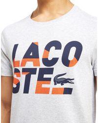 Lacoste - White Sport Text T-shirt for Men - Lyst